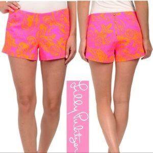 Lily Pulitzer Liza Shorts Pop Pink Seaesta Size 8
